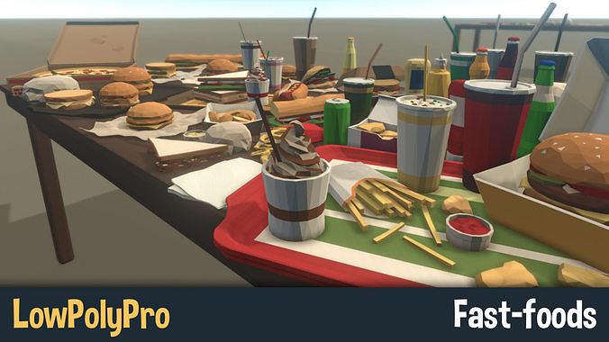 LowPolyPro Fast-foods