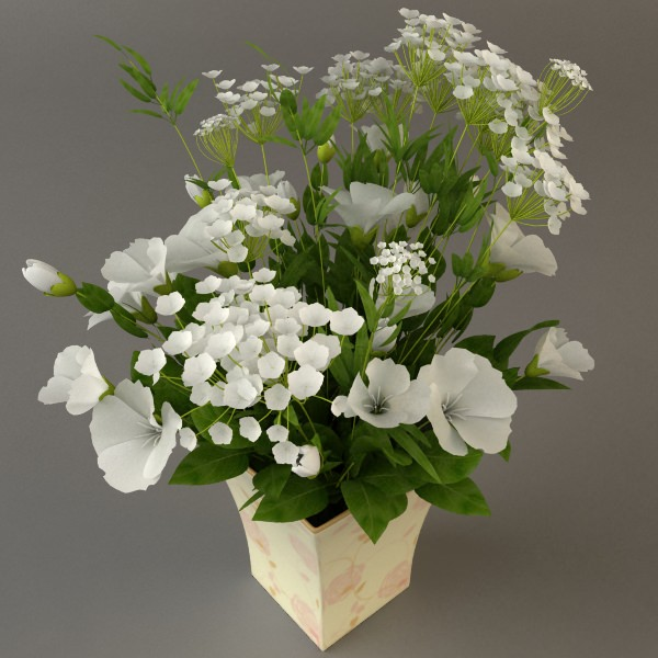 3d model white flower bouquet in vase cgtrader white flower bouquet in vase 3d model max 3ds fbx 3 mightylinksfo
