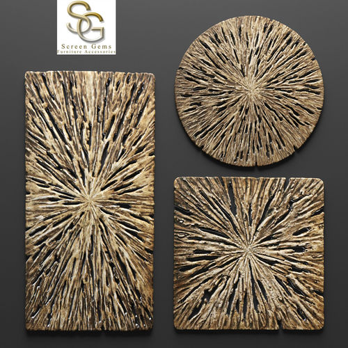 Rotten Wood Wall Art   Set 3D Model