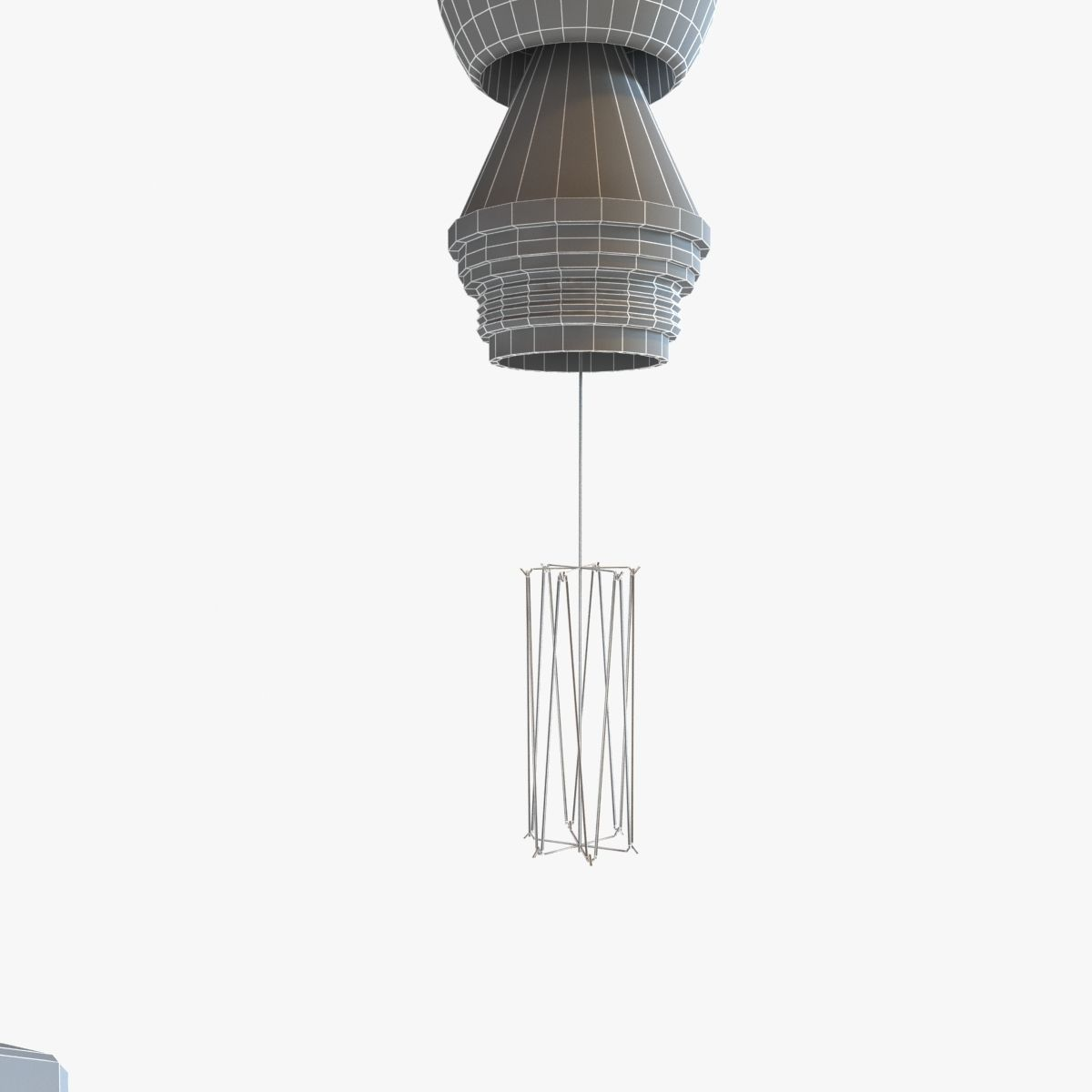 Whiskey Bottles Pulley Pendant Lighting 3D Model MAX OBJ