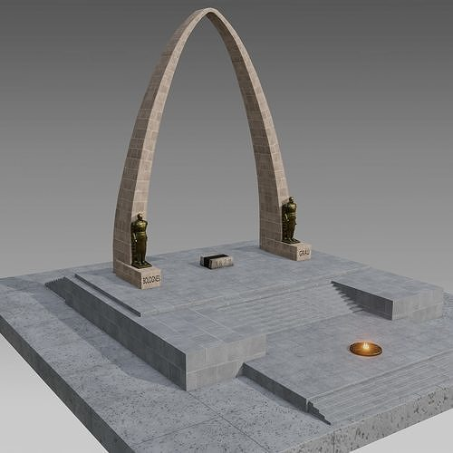Arco Parabolico - Tacna - Peru - model 3D high poly