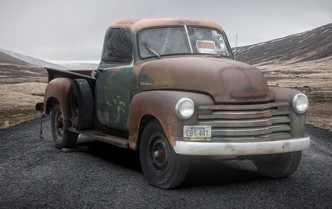 Rusted 1957 Chevrolet Truck 3D scan