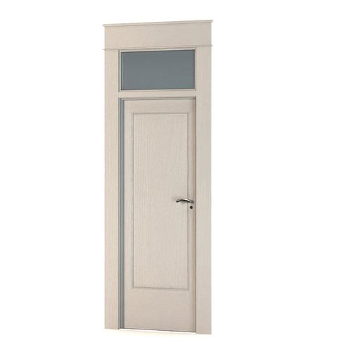 Door With A Window Above It 3D Model