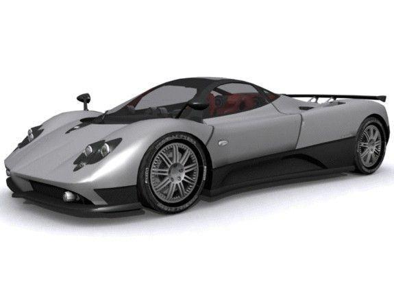 3d Model Pagani Zonda F Cgtrader