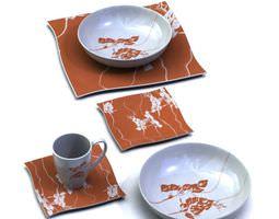 Patterned Dinnerware Plates Bowls Mug 3D