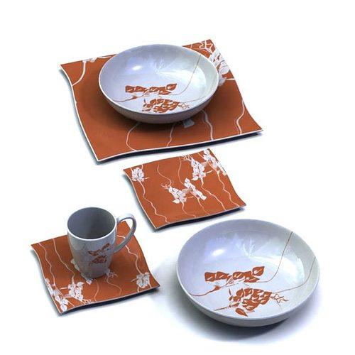 sc 1 st  CGTrader & Patterned Dinnerware Plates Bowls Mug 3D | CGTrader