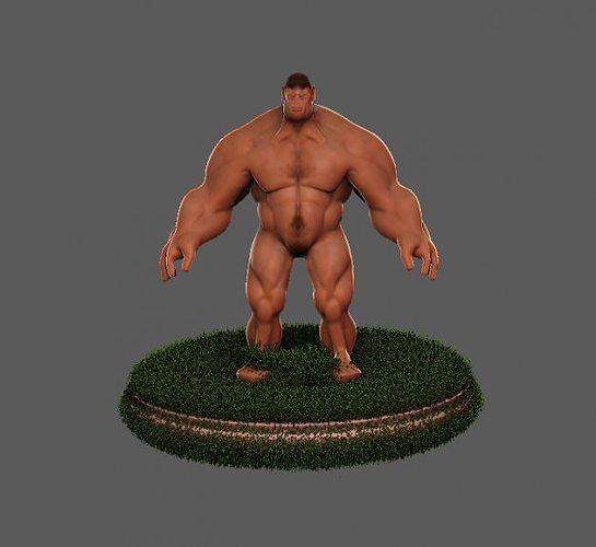 hulk hero 3d model ztl 1