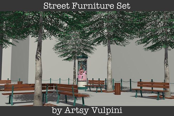 Street Furniture Set