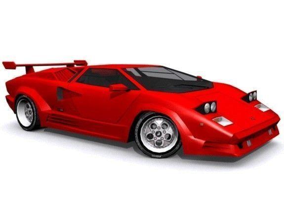 Lamborghini Countach 25th Anniversary 3d Asset Cgtrader