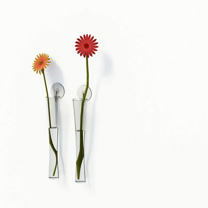 3d Sleek Wall Mounted Flower Vases Cgtrader
