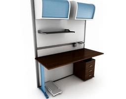 Office Desk System 3D