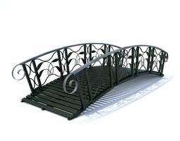 black colored bridge 3d model