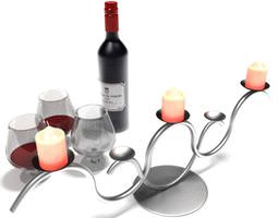 modern silver candle holder 3d