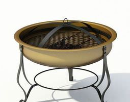 outdoor grill barbeque 3d