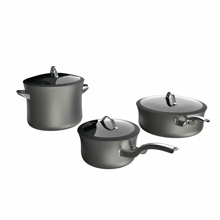 Cooking Ware  Silver Pots