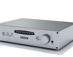 3D model Steel Stereo Amplifier Roksan