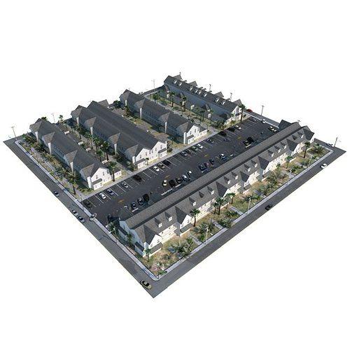 multi unit housisng 3d model obj mtl 1