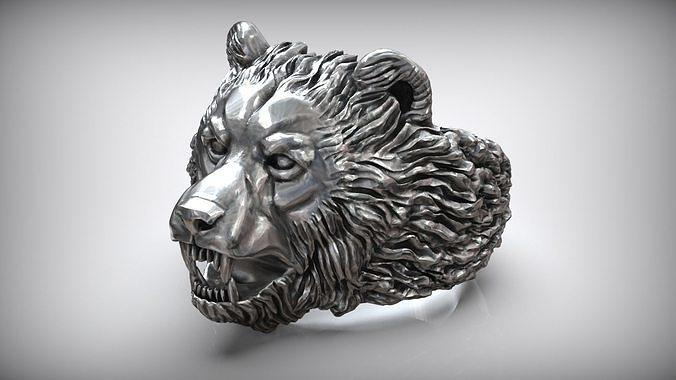 Baribal American Black Bear Ring
