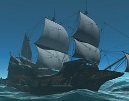 detailed ship 3d