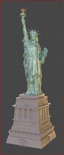 Statue of Liberty 3d PBR Model