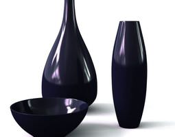 3D model Modern Black Tableware