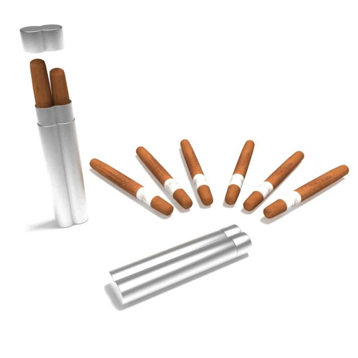 Protective Aluminum Duel Cigar Holder