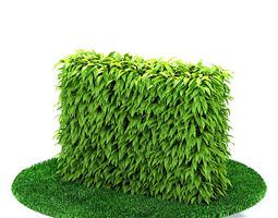 3D Green Hedge