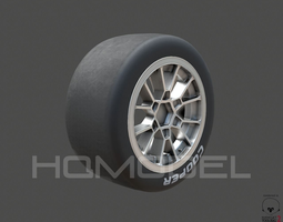 IndyLight Tire Rim PBR 3D asset