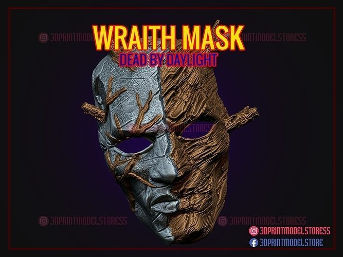 Wraith Mask Cosplay Halloween Costume - Dead by Daylight