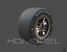 Indy Car Tire Rim Firestone PBR 3D Model