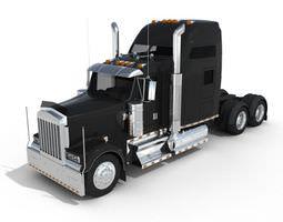 black metal truck 3d