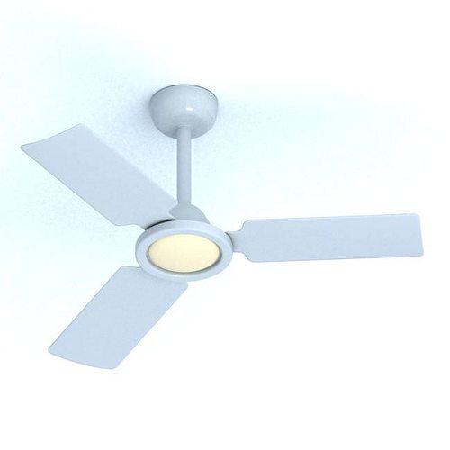 Modern White Ceiling Fan 3D model