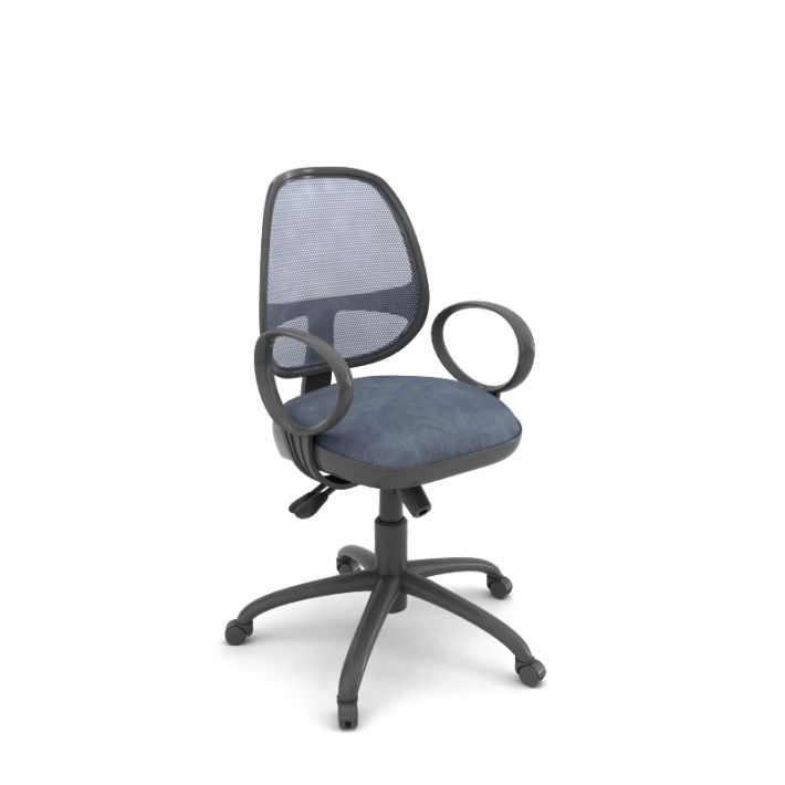 Fabulous Adjustable Rolling Desk Chair 3D Model Caraccident5 Cool Chair Designs And Ideas Caraccident5Info
