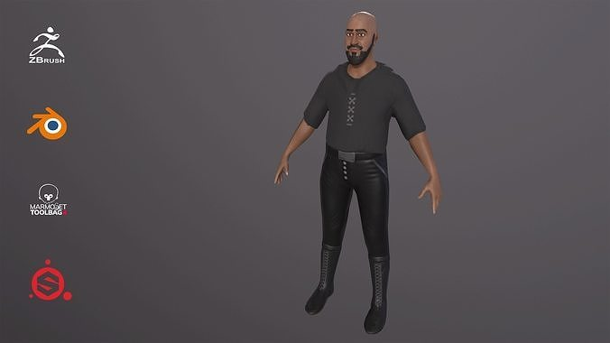 Lowpoly 3D Game Ready Rigged Character