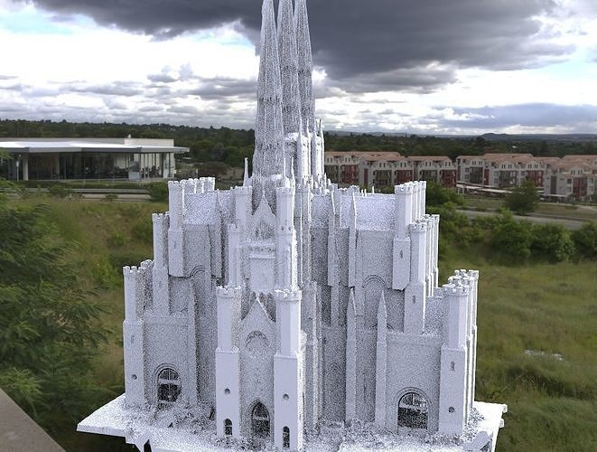 Victorian architecture 6 Cathedral tall 3D