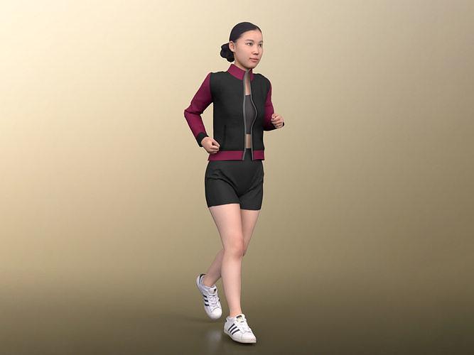 Anita 20024-03 - Animated Young Athletic Woman Jogging