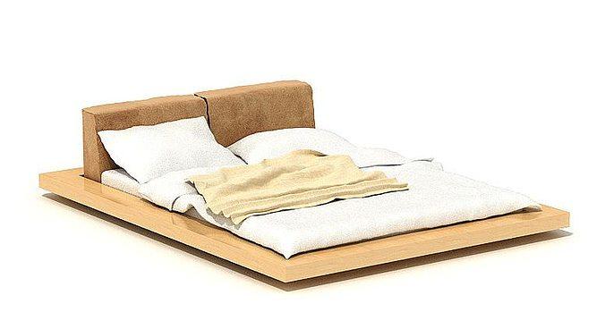 Wooden Bed 3d Model Obj