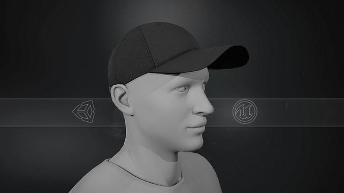 Black Basketball Hat