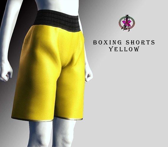 Boxing Shorts - Yellow