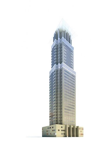 highrise skyscraper 3d model obj 1