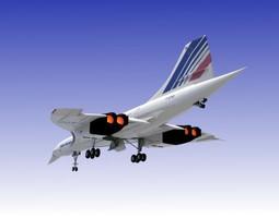 3D model Concorde