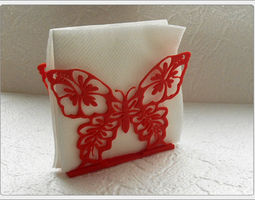 3D print model Stand for napkins Butterfly