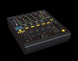 Black Music Mixing Board 3D model