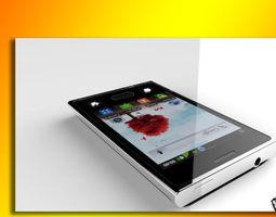 LG L3 E400 with Earphone 3D model