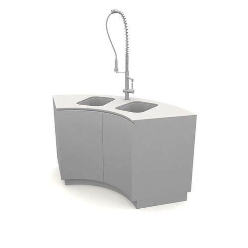 Kitchen Sink White 3D Model CGTrader.com