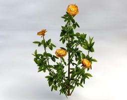 3d asset flower bushes pack realtime