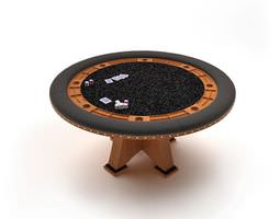 Round Gaming Table 3D