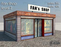 3D asset low-poly Fan Shop