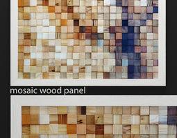 Mosaic wood panel 3D