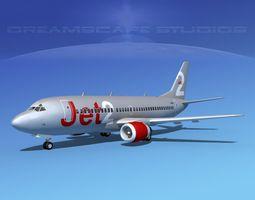 rigged 3d model boeing 737-300 jet2